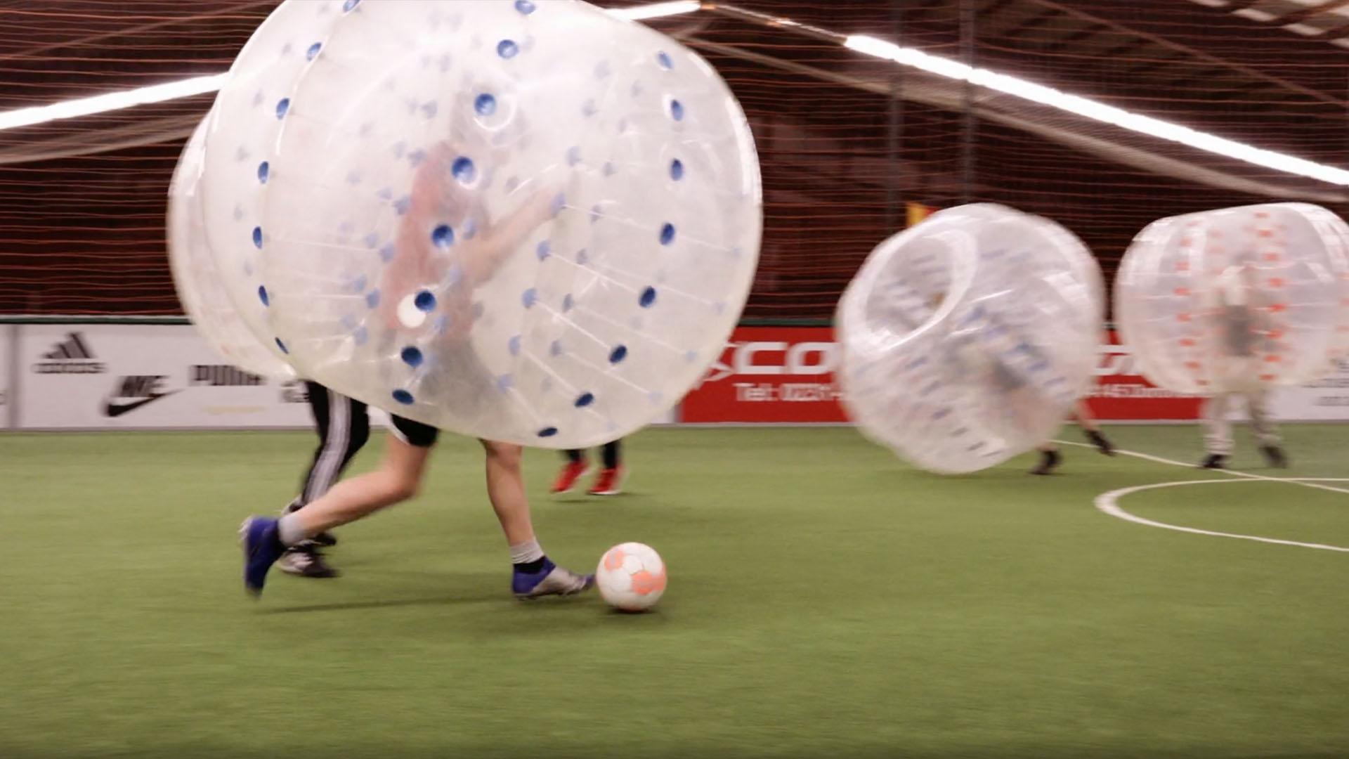 bubble fußball spielen